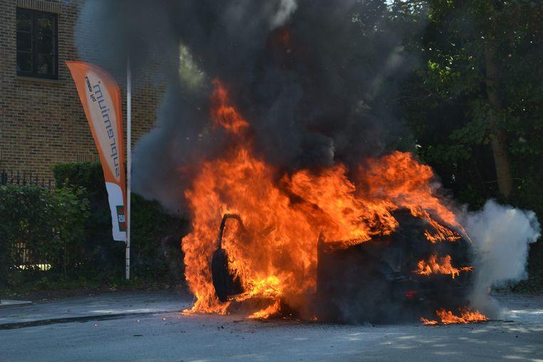Elektrische Auto in Brand